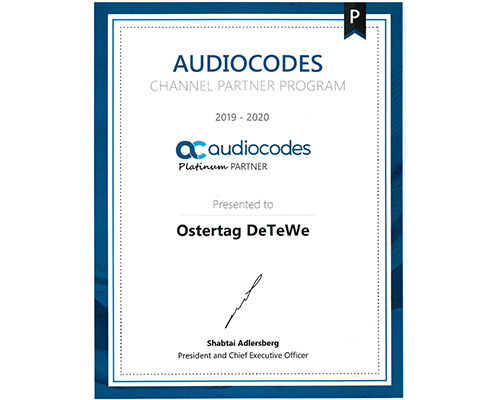 Ostertag DeTeWe audiocodes Partner