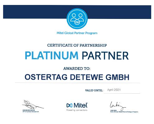 Ostertag DeTeWe Mitel Partner