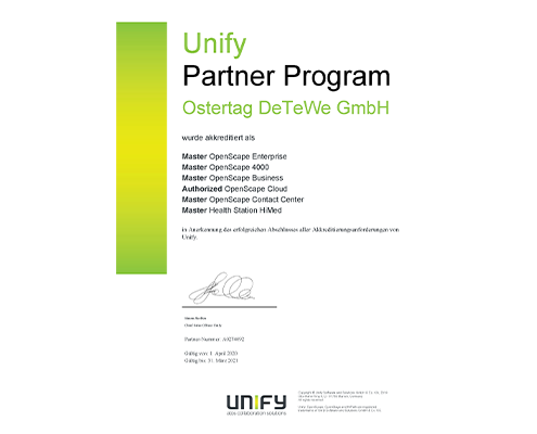 Ostertag DeTeWe Unify Partner