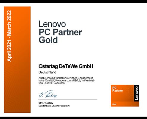 Ostertag DeTeWe Partner Zertifikat Lenovo